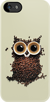 Cute Retro Coffee Kawaii Owl - iphone 4 case or iphone 4s case by www. pointsalestore.com