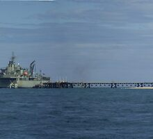 HMAS Sirius at Exmouth Navy Pier, Western Australia by BigAndRed