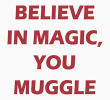 Believe in Magic, you Muggle. by PotterSpell94