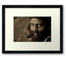 Fire in his Eyes Framed Print