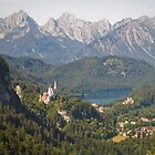 neuschwanstein and hohenschwangau by shannon browning