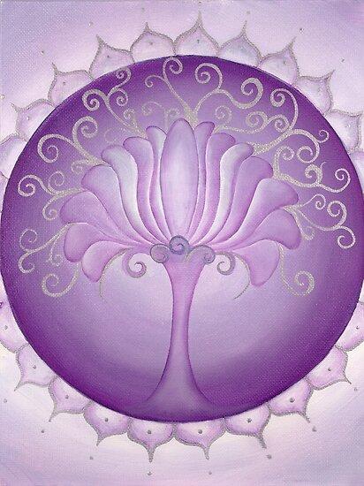 7th Chakra - Crown Chakra by Lori A Andrus