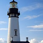 Afternoon Light On Yaquina Head Lighthouse by Jennifer Hulbert-Hortman