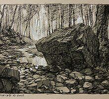 Tiffany Falls ravine. by Guennadi Kalinine