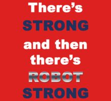Robot Strong White Kids Clothes