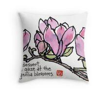 Magnolia Blossoms for Dessert Throw Pillow