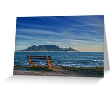 Benched View Greeting Card