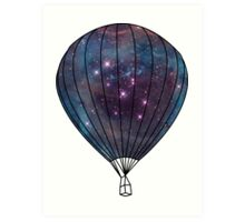 Galaxy Balloon Art Print