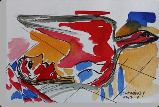 Lady & Dove by Roger Cummiskey