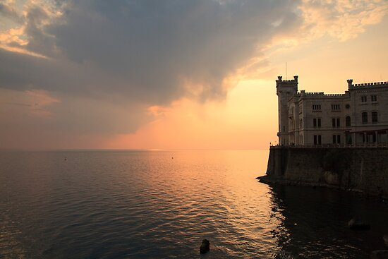 Miramare sunset by Ian Middleton