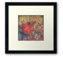 Cactus Flower Textured Framed Print