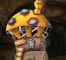 Yellow Steampunk Mushroom by NuttyRachy