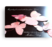 Kisses from Heaven on Mother's Day  Canvas Print