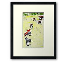 cows in the paddock Framed Print