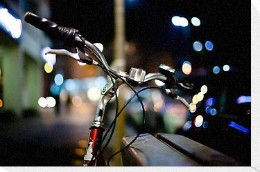 bicycle@night by waitin&#x27; for rain