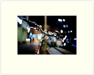 bicycle@night by waitin' for rain