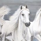 Three White Horses by Aubin de Jongh