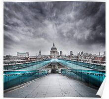 Millenium Bridge, London  Poster