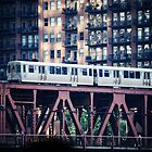 The El - Lake Street Bridge - Chicago by nickaustwick