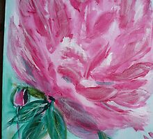 Pink peony by Susie J