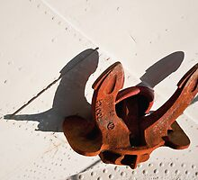 Anchor and Shadows on the Tall Ship Europa by Gerda Grice