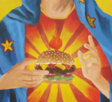 Our Lady of the Six Dollar Burger Sticker