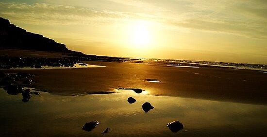the beauty of the setting sun by vampireegirll