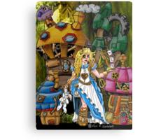 Alice in Wonderland - Steampunk style Metal Print