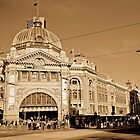 Flinders Street Station by Shari Mattox