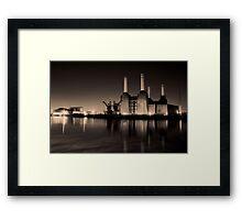 Battersea Power Station Black and gold Framed Print