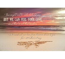 Mother's Day - Card From Mulitple Babies/Children in Heaven Photographic Print
