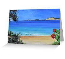 Rainbow Beach coastline Greeting Card