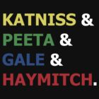 Katniss & Peeta & Gale & Haymitch. by brittanypaige