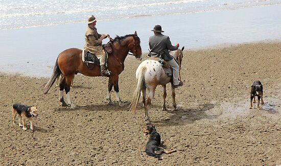 Drovers and dogs by Mike Warman