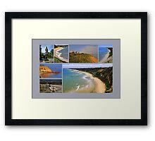 Sandringham collage 2 - Victoria - Australia Framed Print