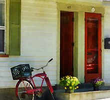 Delivery Bicycle by Two Red Doors by Susan Savad