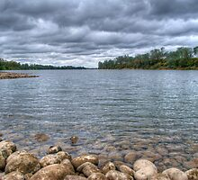 Clouds Over The American River by Diego  Re