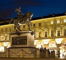 Piazza San Carlo - Turin, Italy by Mark Van Scyoc