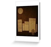 egg in the city Greeting Card