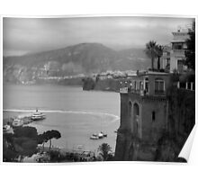 Mist on the Amalfi Coast Italy ~ Black/White Poster