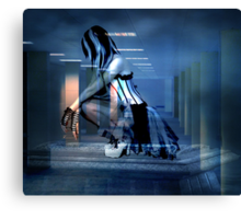 AWAITING THE DEATH OF CORPORATE GREED Canvas Print