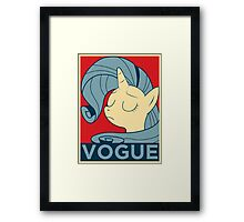 VOGUE Framed Print