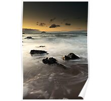 Ayrshire coast sunset Poster