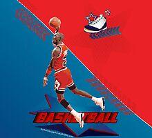 Michael Jordan Basketball iPhone case by Antonio  Luppino