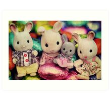 The Easter Bunnies Art Print