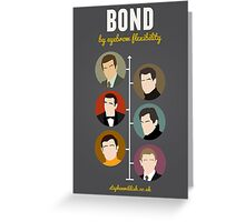 Bond, by eyebrow flexibility Greeting Card