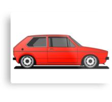 Volkswagen Golf Mk1 - Red Metal Print