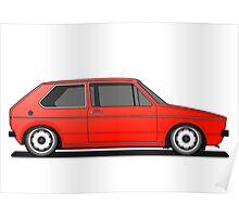Volkswagen Golf Mk1 - Red Poster