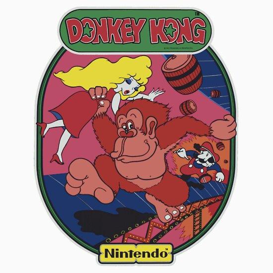 Donkey Kong Stickers by vidyagames Redbubble