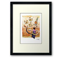 Cat Juggler Framed Print